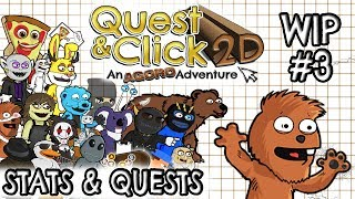 Quest & Click 2D  - Stats and Quest Sheet WIP - Video 3 ( Tyranobuilder )