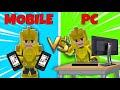 Mobile VS PC user in Bedwars! - Blockman Go