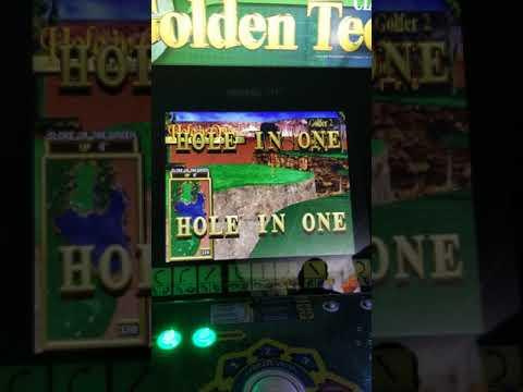 Arcade1up golden tee hole in one shot! from 1HealthPlays Onstot