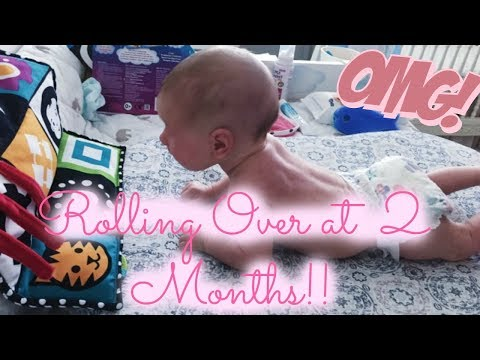 How to Teach Baby to Roll Over AT 2 MONTHS! | Infant Massage