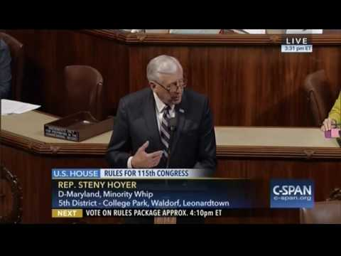 Hoyer Floor Remarks on the House Republican Rules Package