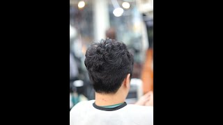 남자 곱슬머리 옆머리 다운펌+아이롱펌 자연스럽게