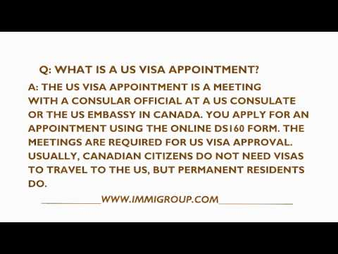 How can you obtain a U.S. visa from Canada?