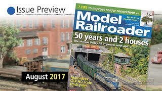 New model trains and layout in the August 2017 Model Railroader