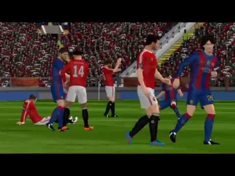 Dream league soccer 2016   Fc Barcelona vs Manchester United