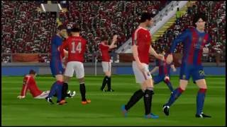 Dream league soccer 2016 | Fc Barcelona vs Manchester United