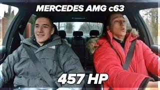Reakcja na przyspieszenie Mercedes AMG c63 ( 457 HP )