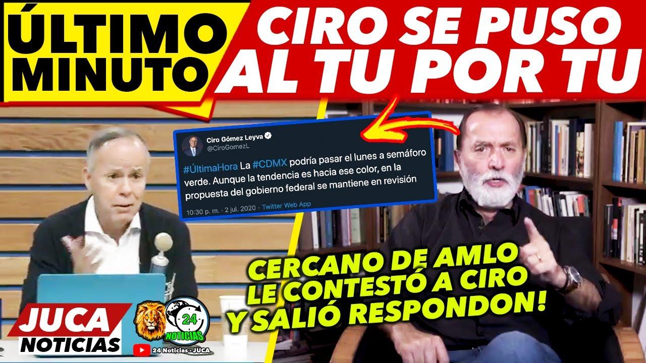 JUSTO AHORA! CIRO GOMEZ SE DA AGARRÓN CON CERCANO DE AMLO! HUBO VIDEOS!