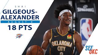 Shai Gilgeous Alexander's Full Highlights: 18 Pts, 7 Ast Vs Wizards   2019 20 Nba Season   8.9.20
