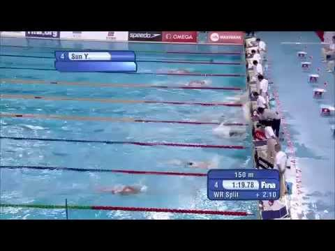 Men's 400m freestyle final FINA Swimming World Cup 2014 Beijing