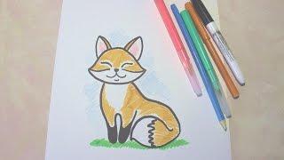 Как нарисовать лису? Поэтапно рисуем сами, рисуем с детьми.