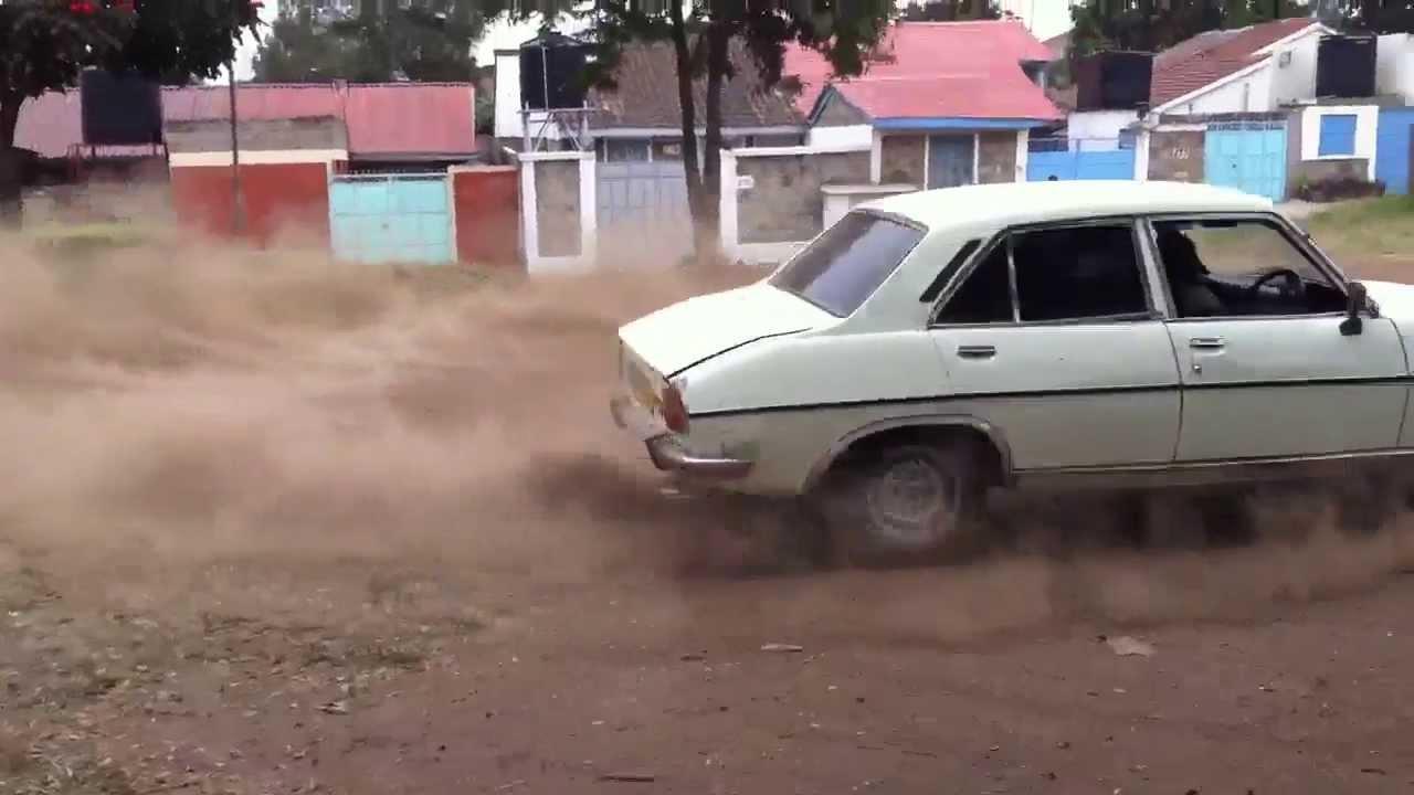 Drift Peugeot 504 In Kenya Nairobi Youtube