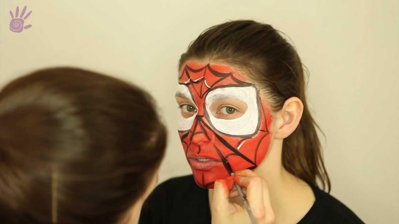 Malowanie Buziek Malowanie Twarzy Face Painting 4 Spiderman