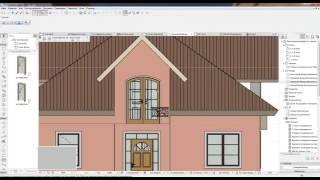 ARCHICAD  project home lessons 17. ( Не стандартные перила (ковка))