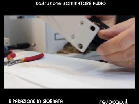 COSTRUZIONE MIXER-SOMMATORE DA STUDIO DI REGISTRAZIONE , ROMA, ALTA QUALITA'