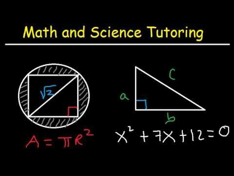 Math and Science Tutoring - High School & College - Chemistry, Algebra,  Trigonometry, - YouTube