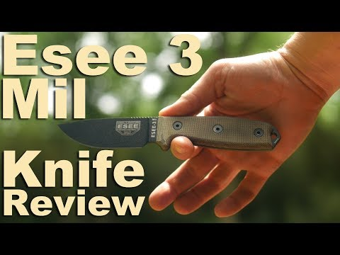 Esee-3 MIL Knife Review.  The Classic fixed blade reviewed yet again.