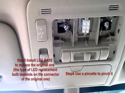 Change Interior Cabin Halogen Dome Light Globe To Led