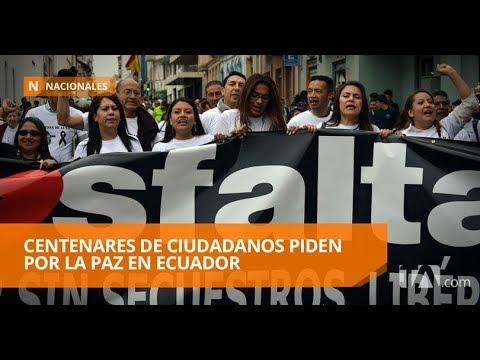 Marcha por la paz en Cuenca suma cientos de personas - Teleamazonas
