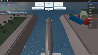 (BETA) WARSHIPS IN ROBLOX,I Destroy enemy's base with titan submarine :)