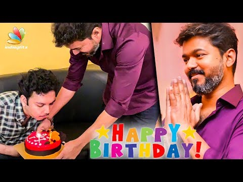 Vijay surprises Nasser's son Faizal on birthday