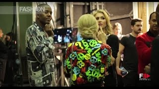 MOSCHINO Backstage Fall Winter 2017 2018 Menswear Milan by Fashion Channel