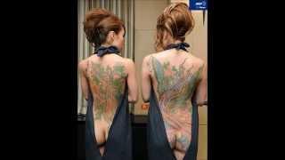 Repeat youtube video 【必見】Tattoo Japanese beauty入れ墨美日本人美女!