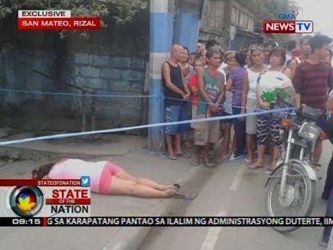 SONA: Babaeng sangkot umano sa iligal na droga, patay sa pamamaril
