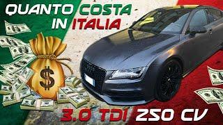 QUANTO COSTA MANTENERE UN 3.0 TDI DA 250 CV IN ITALIA : AUDI A7 TEST !!!