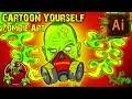 EyeXombie  Gas Mask SpeedArt - Cartoon Yourself