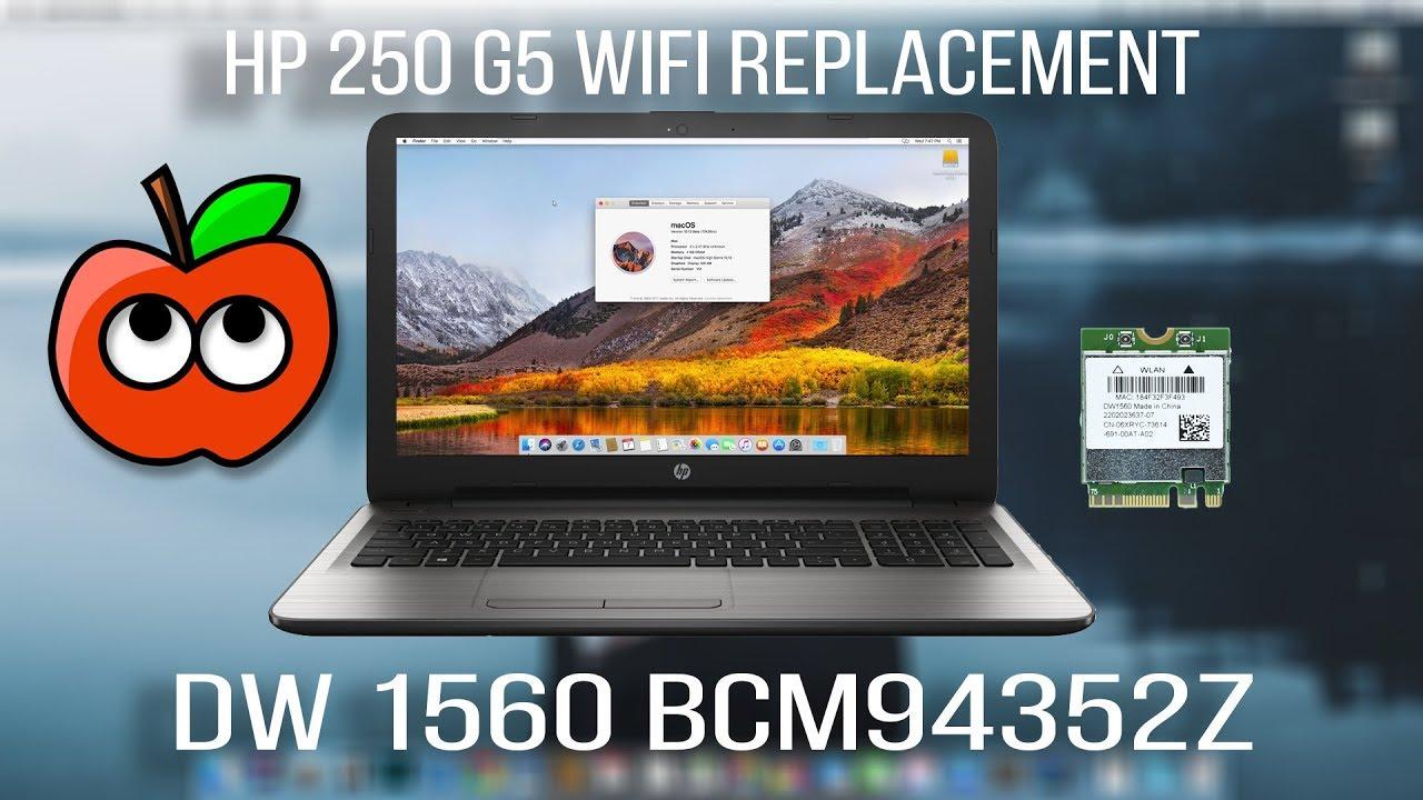 HP 250 G5 - DW1560 Broadcom BCM94352Z WiFi for Hackintosh ...