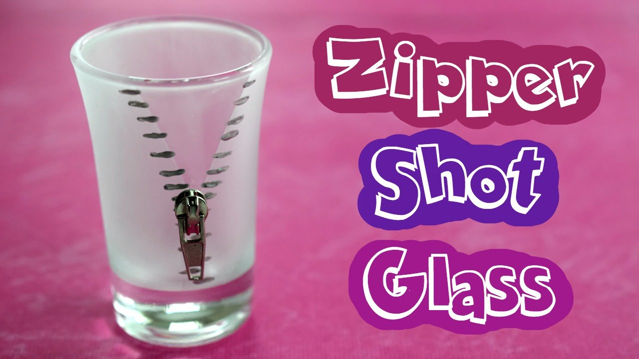 DIY Zipper Shot Glass // Easy Handmade Gift - YouTube
