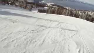 Cruising the top of the mountain at Heavenly Valley Ski Resort