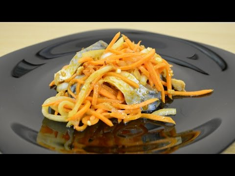 Вкуснейший острый салат со скумбрией.