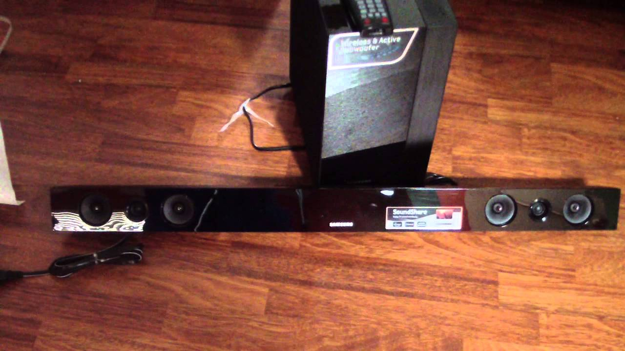 Unboxing Samsung Sound Bar Hw F450 2 1 Channel 280 Watt Soundbar Speaker Wireless 450 You