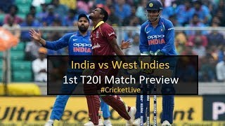 India vs West Indies 1st T20I Match Preview | Cricket Live | DD Sports