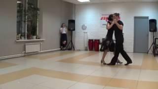 Аргентинское танго в Пензе. 0у- Простые фигуры для милонг. Илья и Ирина. ТС