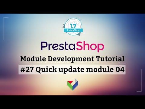 Making of PrestaShop Quick Update Module 04 | PrestaShop Module Tutorial | Part 27