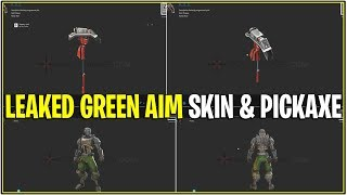 *NEW* Fortnite: LEAKED GREEN A.I.M SKIN & PICKAXE! *Hunting Party Skin* (How to Get them!)