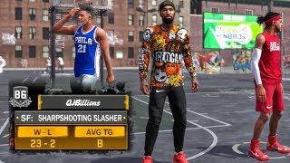 17 POINTS & NASTY PUTBACK POSTER DUNK! NBA 2K18 MyPark Gameplay