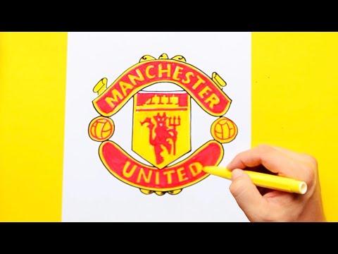 Cara menggambar logo manchester united dengan mudah.