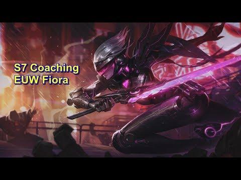 S7 Laning Tips - Coaching EUW Fiora  | League of Legends