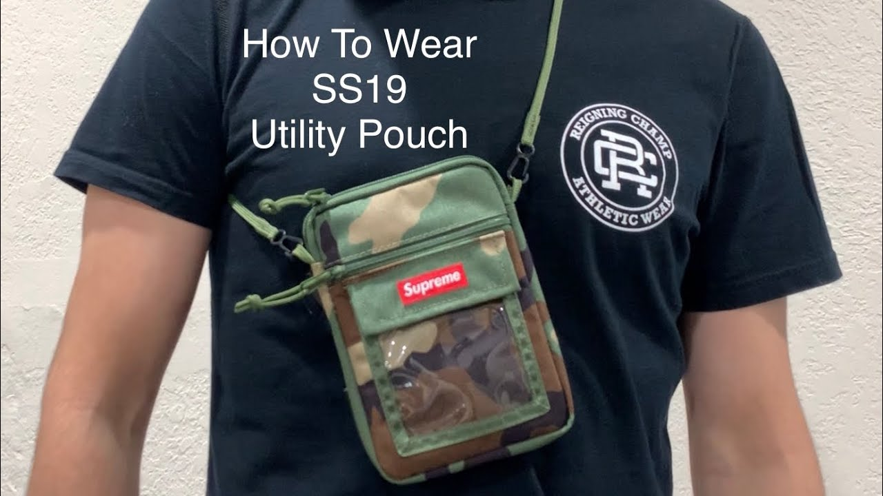 How To Wear Supreme SS19 Utility Pouch + Sizing Details (Week 9