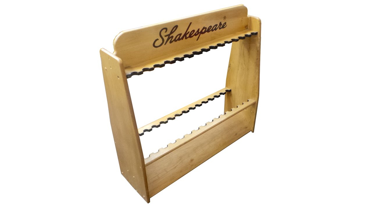 Shakespeare Timber Rod Stand - YouTube