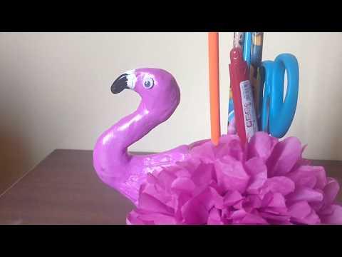 Flamingo Pen Stand | Home decor | DIY desk organizer