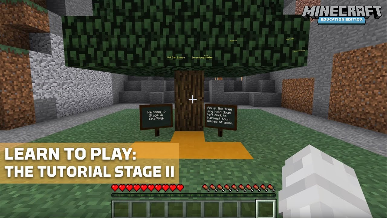 Get Started with the Tutorial World – Minecraft: Education Edition