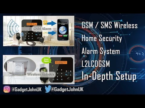 L2LCDGSM Wireless Home Security Alarm with GSM dialler/SMS with RFID & phone App - In-depth Setup
