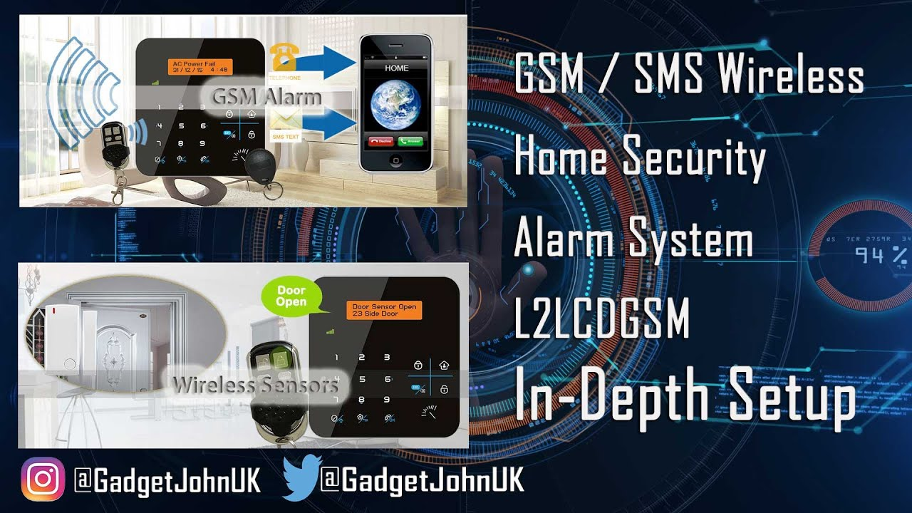 Marvelous LTLCDGSM Wireless Home Security Alarm With GSM Dialler/SMS With RFID U0026  Phone App   In Depth Setup