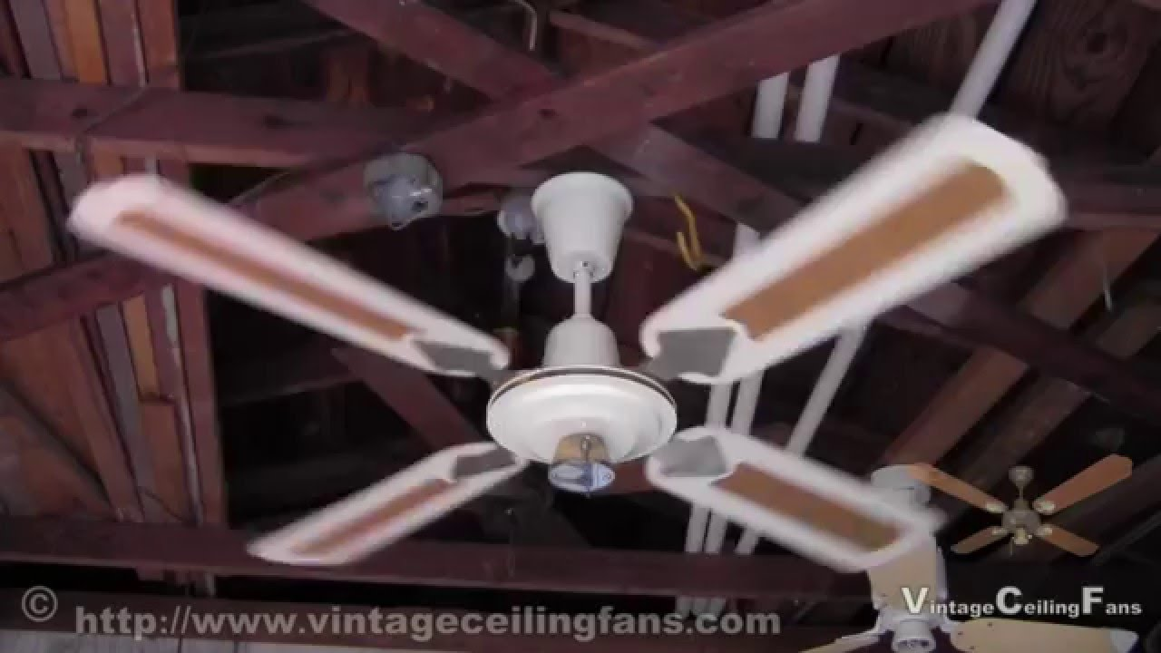 1970s Ceiling Fan : Wing tat white ceiling fan from the late s early