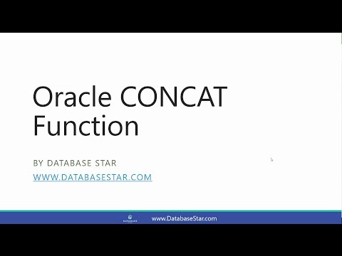 Oracle CONCAT Function - YouTube